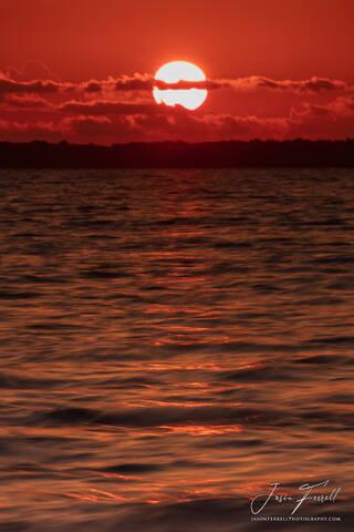 sunset, red, water, ocean, clouds, santa rosa island