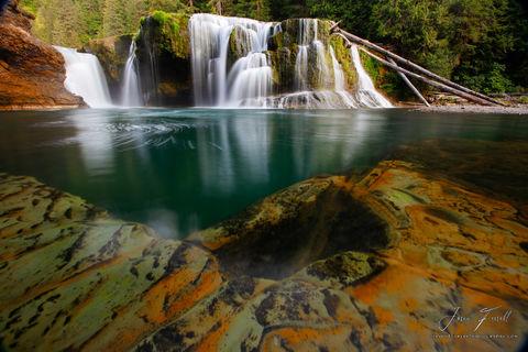 Gifford Pinchot National Forest, Washington, emerald chasm, lower lewis falls
