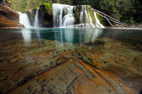 what lies beneath, Gifford Pinchot National Forest, Washington, lower lewis falls
