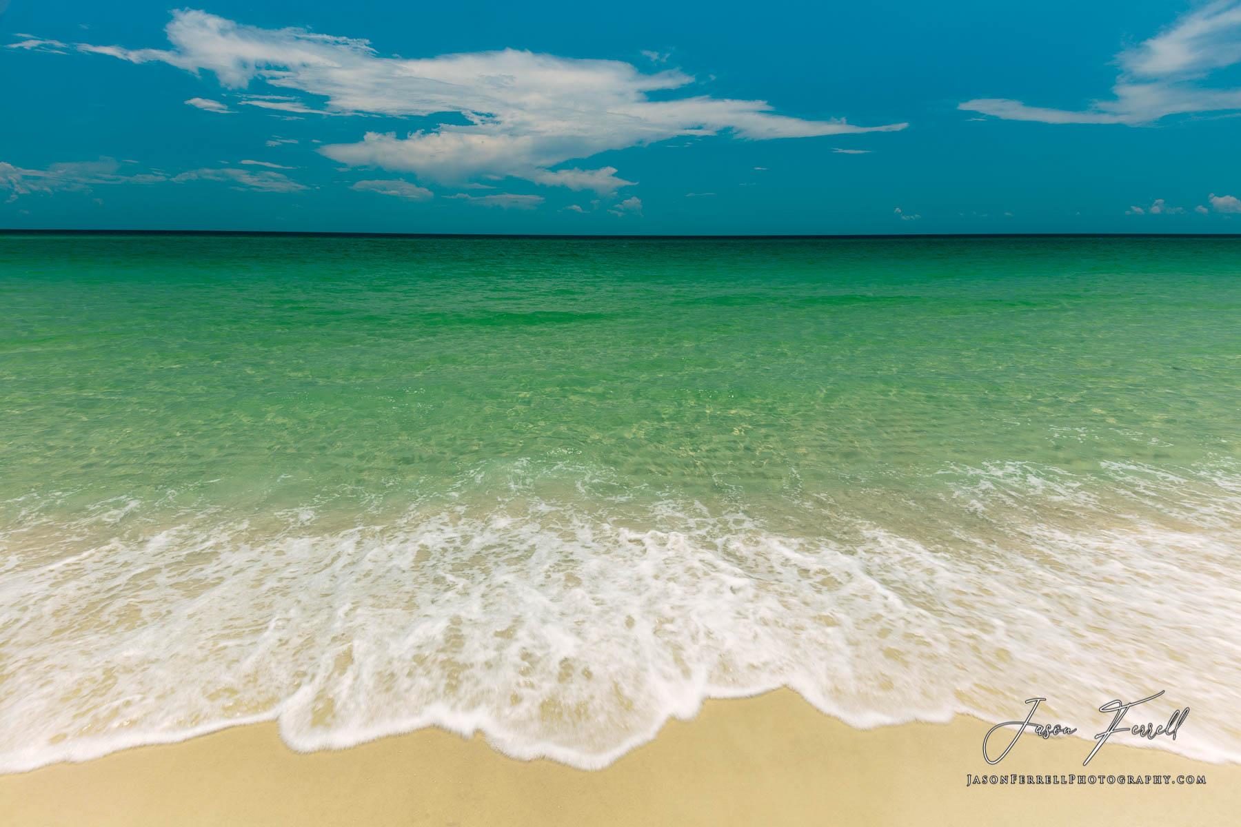 summer, beach, water, ocean, blue, green, white, santa rosa island, photo